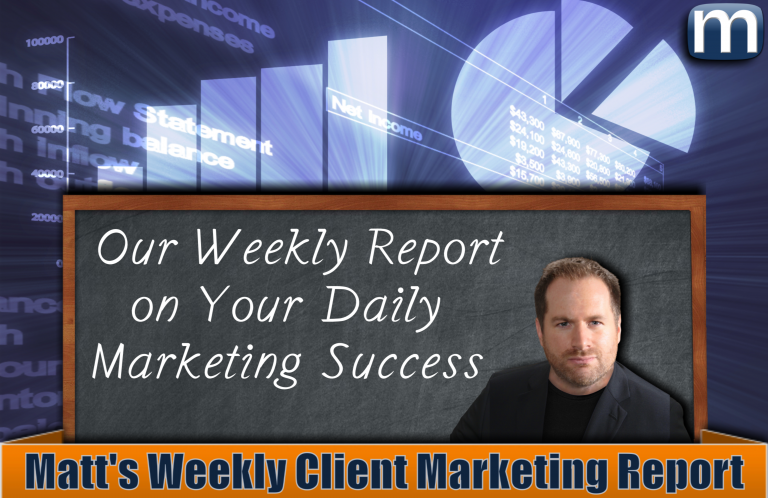 Matt's Weekly Client Marketing Report – Volume 194
