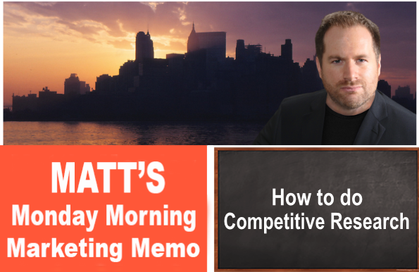 Matt's Monday Morning Marketing Memo – Vol. 237