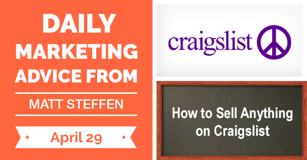 How to Sell Anything on Craigslist