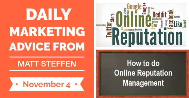How to do Online Reputation Management