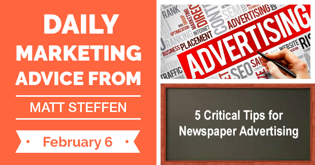 5 Critical Tips for Newspaper Advertising