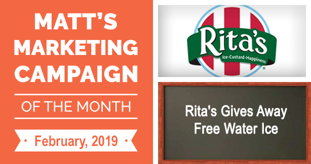 Rita's Gives Away Free Water Ice