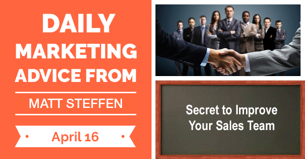 Secret to Improve Your Sales Team