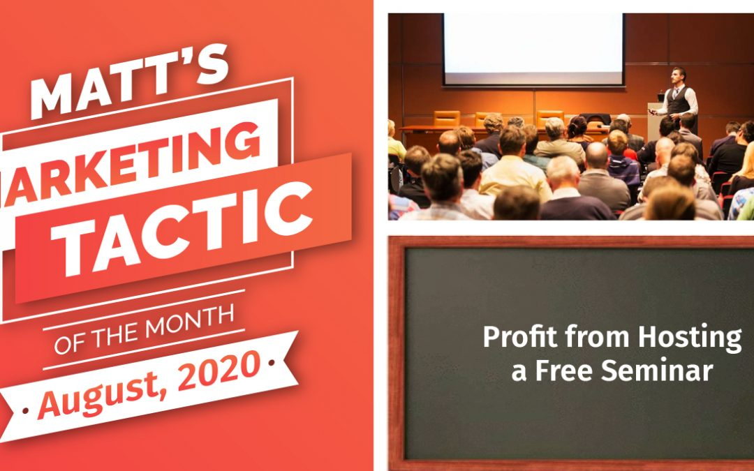 Profit from Hosting a Free Seminar